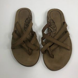91240688f4d358 Teva Brown Leather Olowahu Strappy Sandal 7